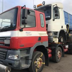 DAF CF85 8X4 Chassis Cab Loaded with DAF CF Tractor Unit & Van Ready To Be Exported To Lagos Nigeria