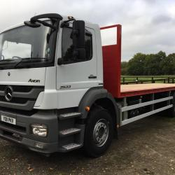 Mercedes Axor 2533 with a Brand New 30FT Heavy Duty Flatbed Body Built to Customers Requirements and Painted to there Colours
