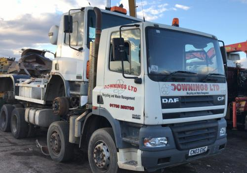 DAF CF85 340 8X4 Chassis Loaded with DAF 75 6X4 Chassis and shipped to Guyana
